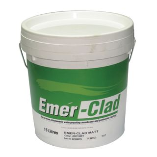 Emer-Clad Facade Acrylic Flexible Waterproofing Membrane 15Ltr  - Matt - LIGHT GREY