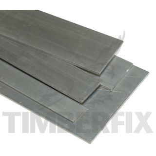 80mm x 6.0mm Aluminium Flat Bar per 4 mtr length