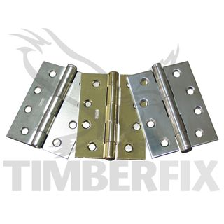 100 x 75mm Heavy Duty Chrome Butt Hinges