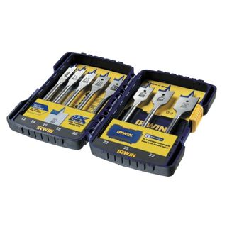 8 Piece Spade Bit Set with Extension Bar - Turbo Bore