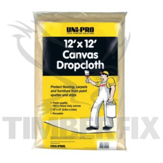 Canvas Drop Sheet 9' x 12' (2.7 x 3.6m)