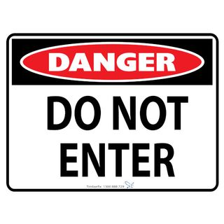 Do Not Enter 600 x 450mm Poly Sign