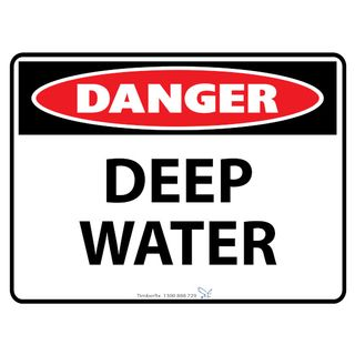 Deep Water 600 x 450mm Poly Sign