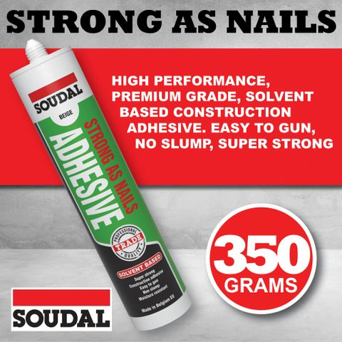 Soudal Strong As Nails Construction Adhesive Solvent based 350gr