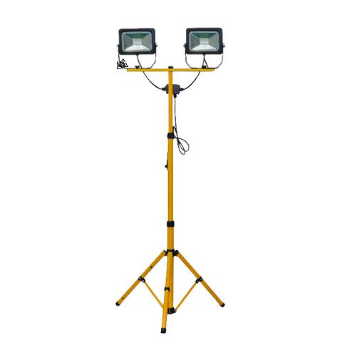 Floodlight 100 Watt (2 x 50W) LED Twin Tripod ( 1.6m) with lead