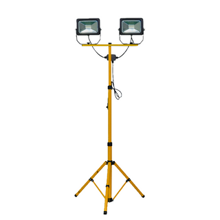 Floodlight 100 Watt (2 x 50W) LED Twin Tripod ( 1.6m) with lead