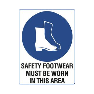 Safety Footwear Must be Worn...600mm x 450mm Poly Sign