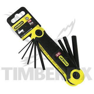 8 piece Metric Folding Allen Keys