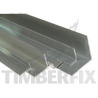 25 x 20 x 1.6mm Mill Finish Aluminium Angle - 3mtr Length