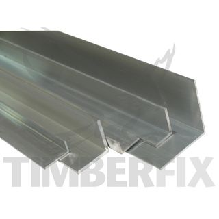 50 x 25 x 3.0mm Mill Finish Aluminium Angle - 3mtr Length