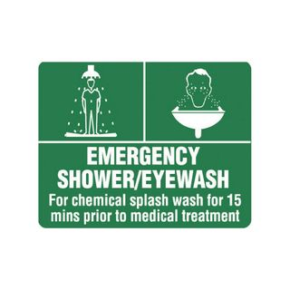 Emergency Shower/Eyewash 600mm x 450mm Poly Sign