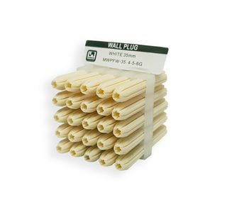35mm White Wall Plugs