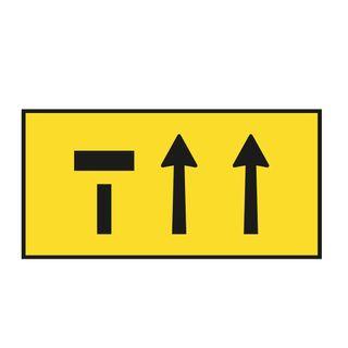 1800mm x 900mm 3 Lane Metal Sign
