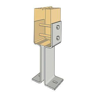 75mm Leg Length Adjustable Post Anchor