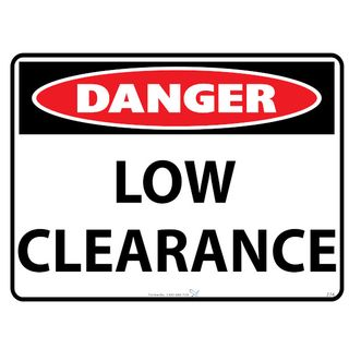600 x 450mm Danger Exclusion Zone Poly Sign
