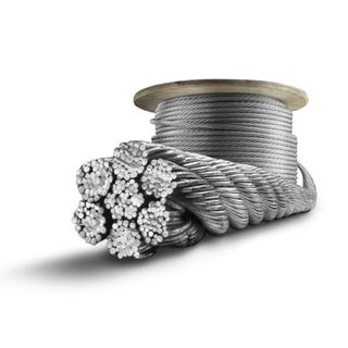 6mm x 100m Gal Wire Rope Roll
