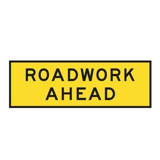 2400 x 900mm Roadwork Metal Sign