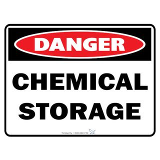 Chemical Storage 600 x 450mm Poly Sign