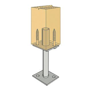300mm Leg Centre Pin Post Anchor