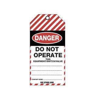 Danger Tear Proof Synthetic Tags