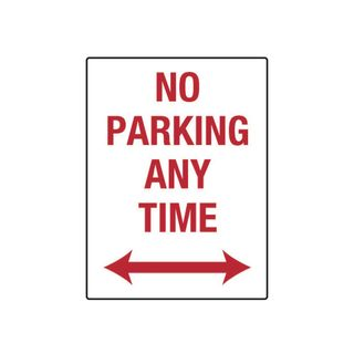 No Parking Anytime 300 x 450mm Metal Sign