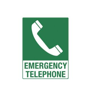 Emergency Telephone 600 x 450mm Poly Sign