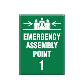 Emergency Assembly Point 1 600mm x 450mm Poly Sign