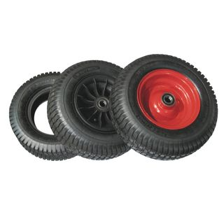 Tyre + Tube + Plastic Rim for Wheelbarrow 6 Inch