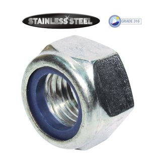 M8 Stainless Nylon Lock Nuts