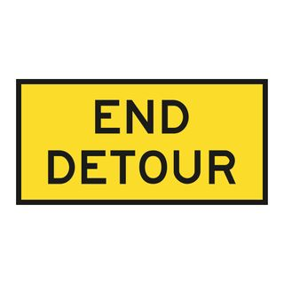1200 x 600mm End Detour Metal Sign