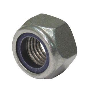 M10 Galvanised Nyloc Lock Nut