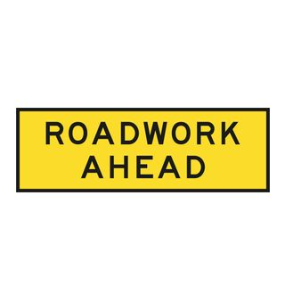 1800 x 600mm Roadwork Ahead Sign