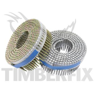 50mm x 2.3mm Duofast Bright Screw Shank Coil Nails / Coil  - D40900
