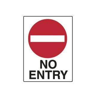 No Entry 600mm x 450mm Poly Sign