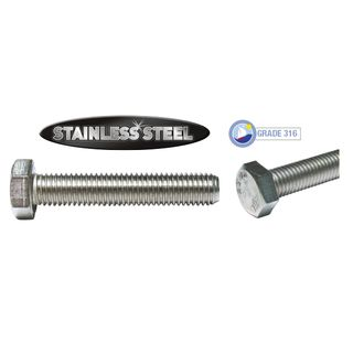 M10 x 75mm Stainless Set Screws