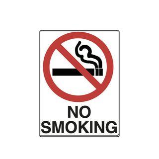 No Smoking 600 x 450mm Poly Sign - (Image) No Smoking -