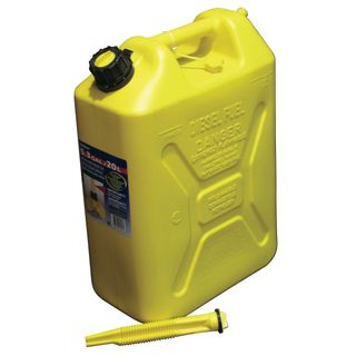 20 Ltr Plastic Jerry Can Yellow for Diesel