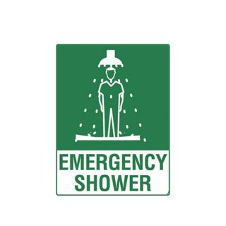 Emergency Shower 600 x 450mm Poly Sign