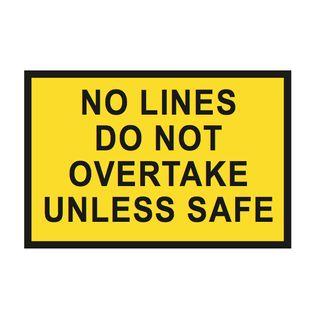 1500 x 900mm No Lines Metal Sign