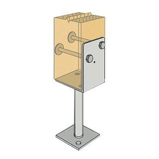 Half Stirrup Post Anchors - 130mm Leg