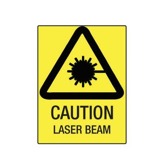 Caution Laser Beam 600mm x 450mm Poly Sign