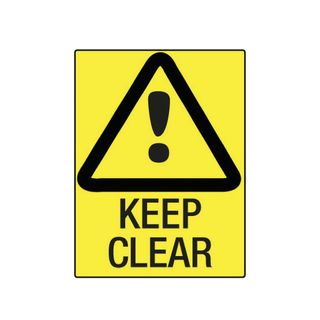 Keep Clear 600mm x 450mm Poly Sign