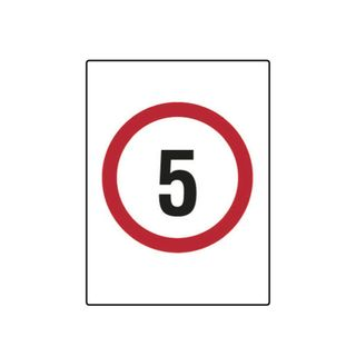 5km Speed Limit 600mm x 450mm Poly Sign