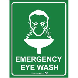Emergency Eye Wash 600 x 450mm Poly Sign