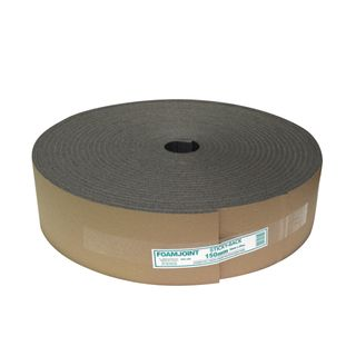 250mm x 25mtr Sticky Back Foam Joint