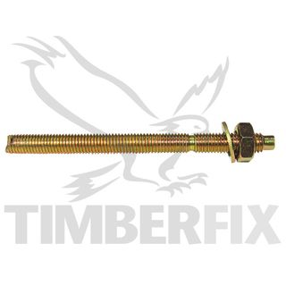 M8 x 110mm  Zinc Chemstuds with nut and washer