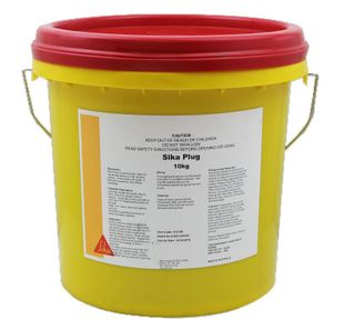 Sika Plug  10kg Pail  Cementitious Fast setting water plug to stop pressure leaks. Used in culverts, tunnels, tanks, basements and pools.