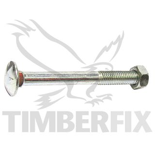 M10 x 40mm Zinc Cup Head Bolt & Nut