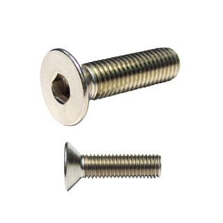 M12 x 60mm Countersunk Stainless 316 Grade Socket Screw