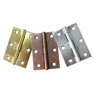 100mm Electro-Brass Standard Butt Hinges